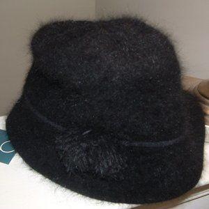 Black Angora Bucket Hat Nine West Hat